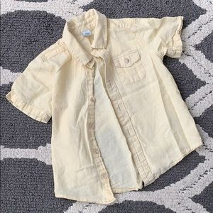Yellow toddler boys button down shirt